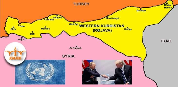 Official recognition of Rojava in order to stop Turkish invasion