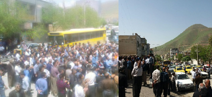 Citizens protested in Sanandaj in Kurdistan East to the municipality