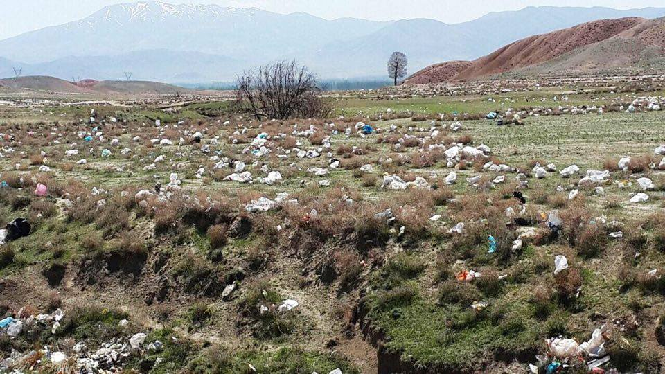 Protesting villagers from landfill city of Salmas