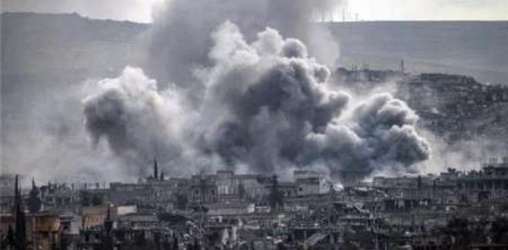 Continued shelling the villages Kanton Afrin the Turkish army