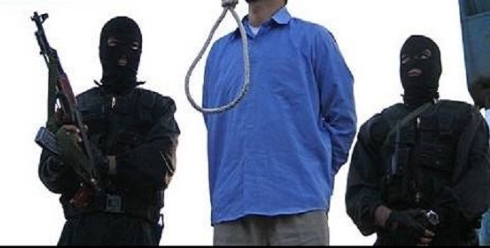 The execution of a prisoner of Khorramabad in East Kurdistan