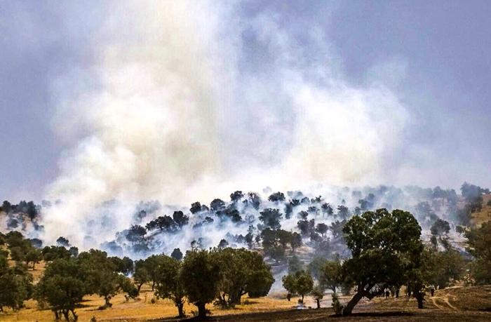 Fires section (Sorkhgir) city of Ivan Gharb in East Kurdistan