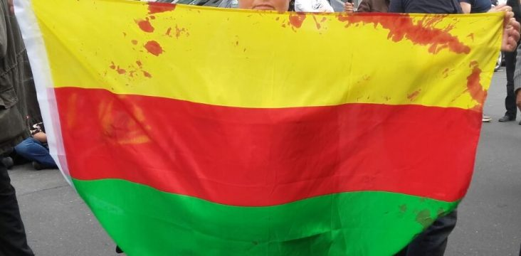 German police raid a peaceful gathering support from Rojava