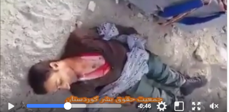 Kurdish innocent civilian killed by security forces of the Islamic Republic of Iran
