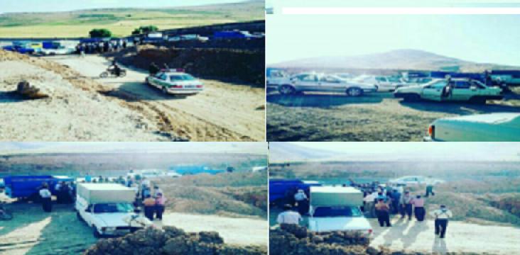 """Citizens protest village """"Alton"""" of city functions Saqez in East Kurdistan"""