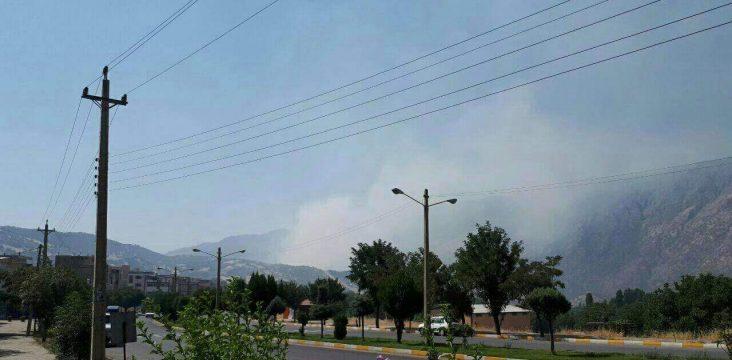 A fire in the ferests around Rijab Marivan in eastern Kurdistan