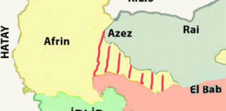 Movements of the Turkish Army at the Afrin border of West Kurdistan (Rozhava)