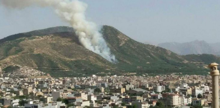 Continuity of fire in the lush forests in eastern Kurdistan