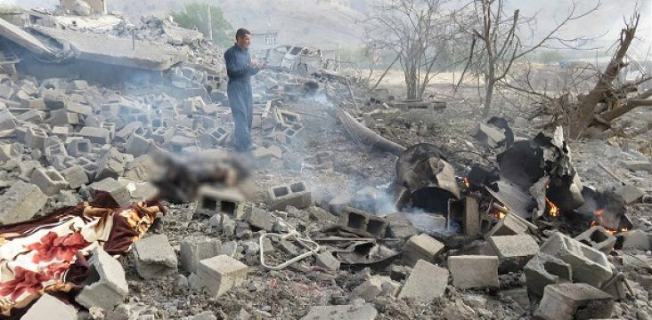 The bombed Turkish army and injuring four people in southern Kurdistan