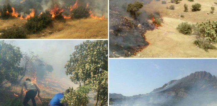 The fires Pataq in Sarpol Zahab are advancing forward.