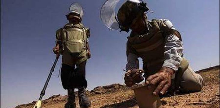 Two mine remover were wounded in a mine explosion in Saqez
