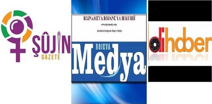 The confiscation of two newspapers and a Kurdish news agency by the Turkish government