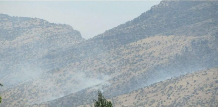 Continuation of fire in Zagros forests in Gilan Gharb