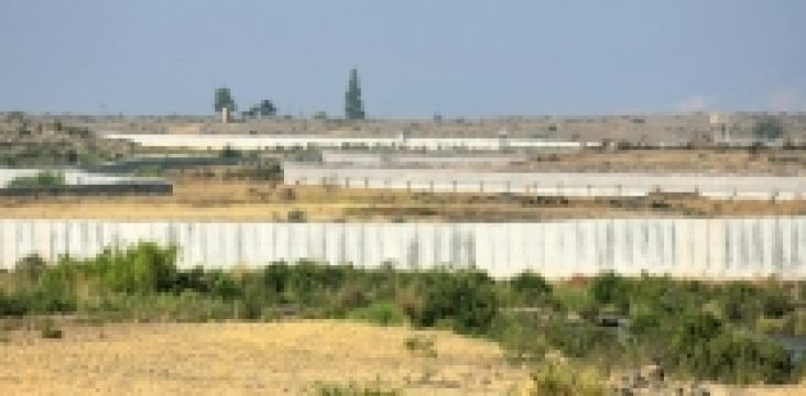 The wall fence of the Turkish government on the borders of Rajo