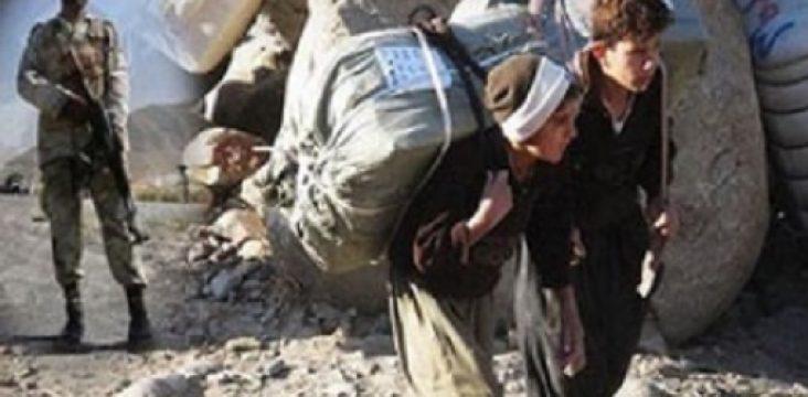 Wounded 2 Kurdish entrepreneur and carrier in eastern Kurdistan