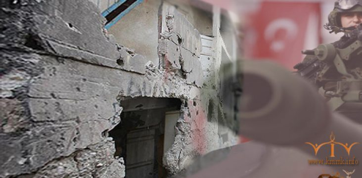 The destruction of the city of Sur Amed by the Turkish government