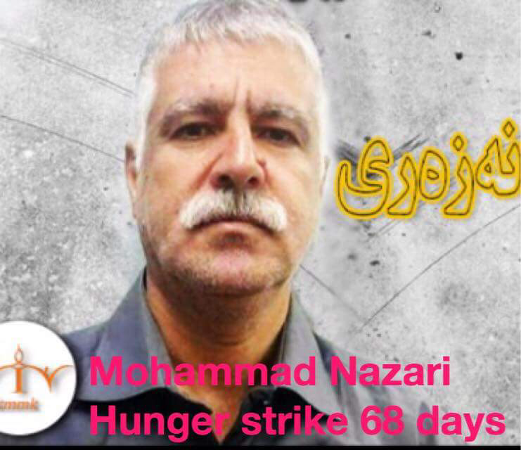 1630 hours without food and more than 9,000 days in prison / Mohammad Nazari is on hunger strike