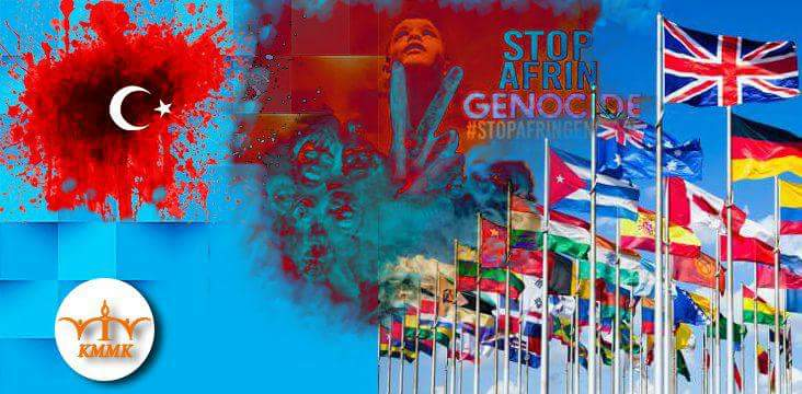 In the aftermath of Turkey's attack on Afrïn, the silence of the United Nations, the European Union and the international communitycan can be seen as accompanying the Genocide of the Kurds
