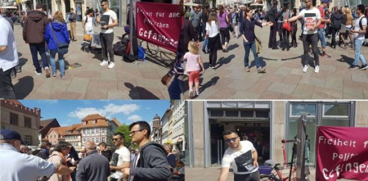 No to Execution/Protest which held in Gottingen (Germany) to support the  political prisoner